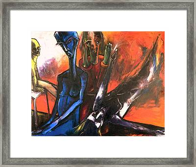 Framed Print featuring the painting The Passage From This Life Into The Next  by Kenneth Agnello