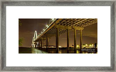 A Great Passageway Arthur Ravenel Jr Bridge Charleston South Carolina Framed Print by Reid Callaway