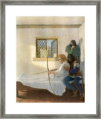The Passing Of Robin Hood Framed Print by Newell Convers Wyeth