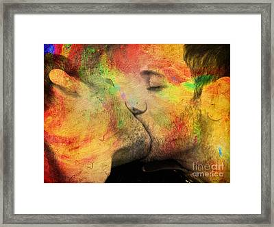 The Passion Of A Kiss 1 Framed Print by Mark Ashkenazi