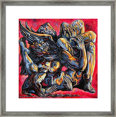 The Passion Of The Fallen Framed Print by Darwin Leon