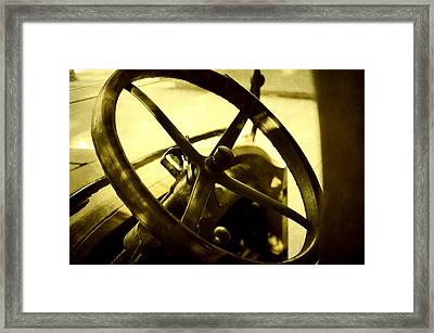 The Past At The Wheel Framed Print