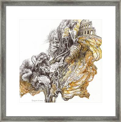 The Past. Dry Leaves Series Framed Print by Sergey Gusarin