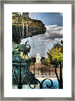 The Past Flows Through Here Framed Print by Greg Sharpe