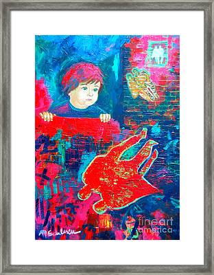 The Past Is Pink  The Present Is Blue  Future I Don T Know Framed Print by Ana Maria Edulescu