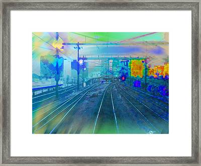 The Past Train 1 Framed Print