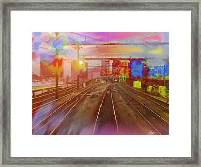 The Past Train 3 Framed Print