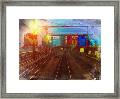 The Past Train 4 Framed Print