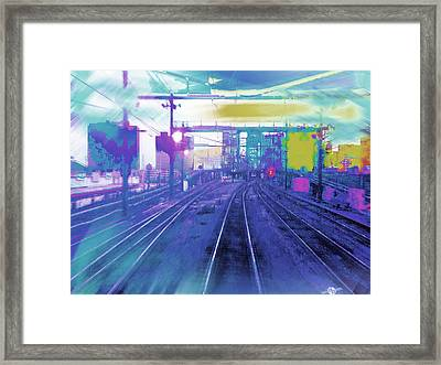 The Past Train 7 Framed Print