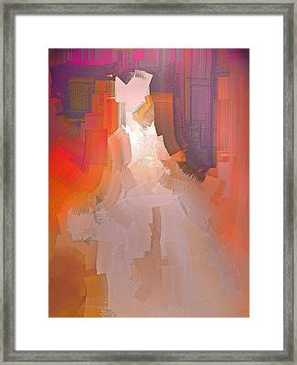 The Past Warns The Future Framed Print by Michael Durst