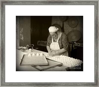 The Pastry Maker, Sardinia Framed Print