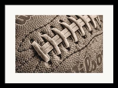 Footballs Closeup Framed Prints