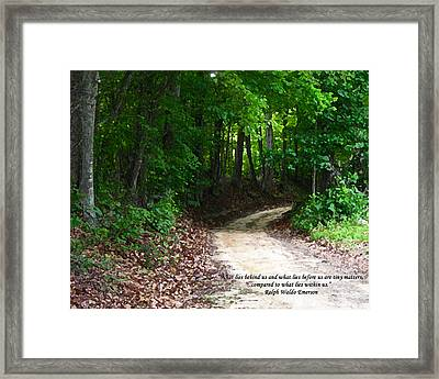 The Path Framed Print by Ginger Howland