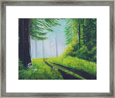 The Path In The Woods. Forest In Spring. Framed Print by Elena Pavlova