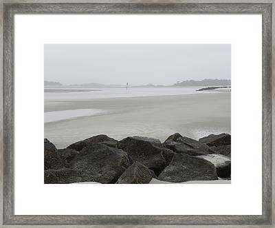 The Path Is Narrow Framed Print by Kim Zwick