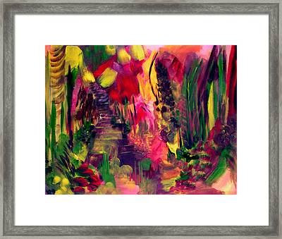The Path Leads Up Framed Print by Ellen Seymour