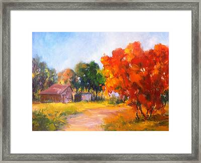 The Path Nearby Framed Print