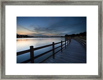 The Path Framed Print by Ng Hock How