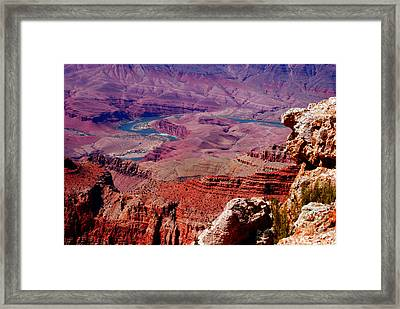 The Path Of The Colorado River Framed Print by Susanne Van Hulst