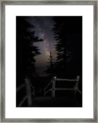 The Path Of The Hunter Framed Print by Brent L Ander
