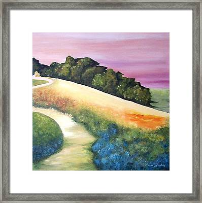 The Path Over The Hill Framed Print by Carola Ann-Margret Forsberg