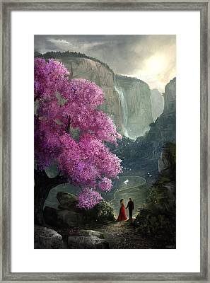 The Path Framed Print by Steve Goad