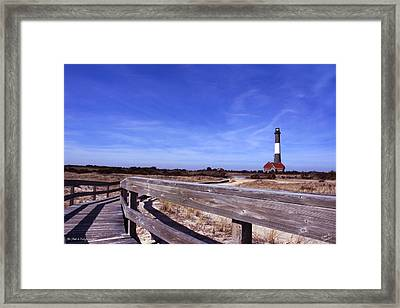 The Path To Enlightenment Framed Print by Diane C Nicholson