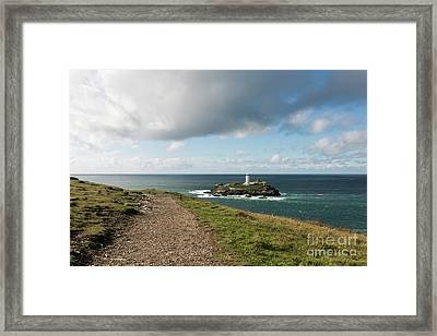 The Path To Godrevy Framed Print