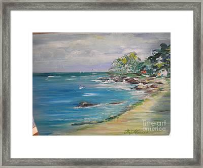 The Path To My Beach House Framed Print