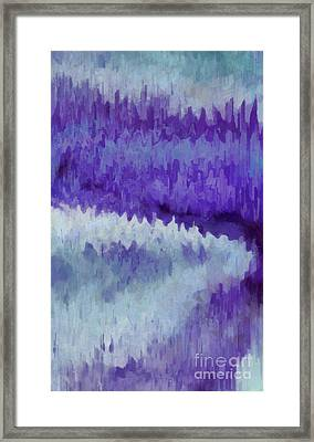 The Path To The Amethyst Forest Framed Print