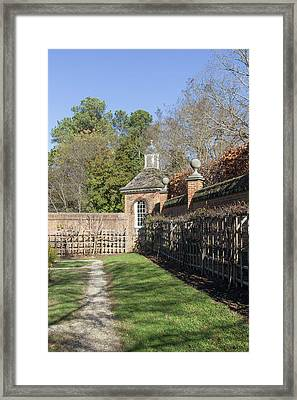 The Path To The Potting Shed Framed Print