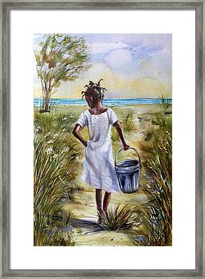 The Path To The Sea Framed Print