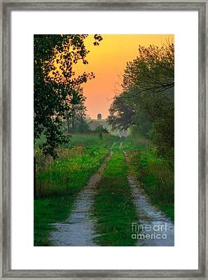 The Path We Follow Framed Print