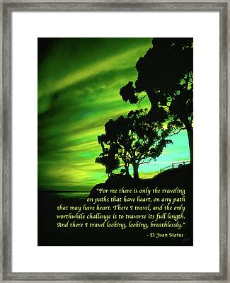 The Path With A Heart Framed Print