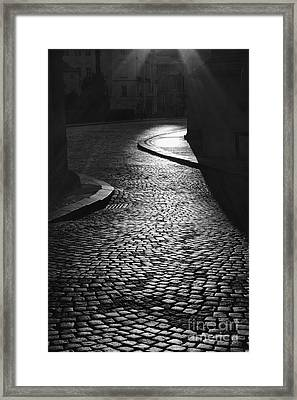 The Pathway Leading To The Light Framed Print by Hideaki Sakurai