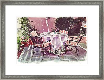 The Patio - Hotel Bel-air  Framed Print