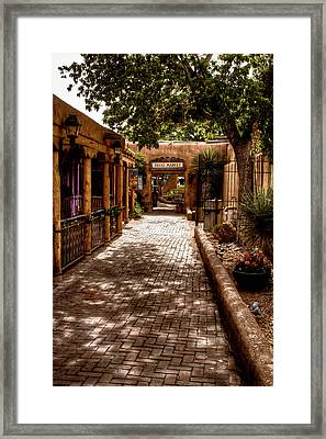 The Patio Market Framed Print by David Patterson