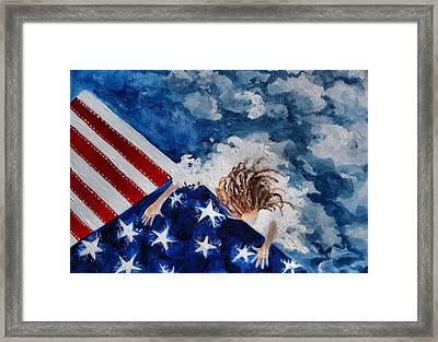 The Patriot Returns Home Framed Print by Mary Sonya  Conti
