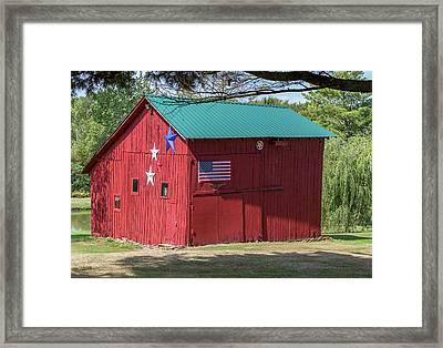 The Patriotic Barn Framed Print