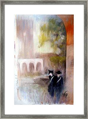 The Patrol In Pomezia Framed Print by Elisabeth Nussy Denzler von Botha