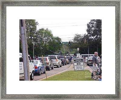 The Patrons Arrive Framed Print by David Bearden