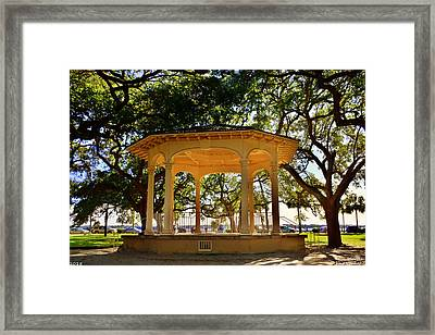 The Pavilion At Battery Park Charleston Sc  Framed Print