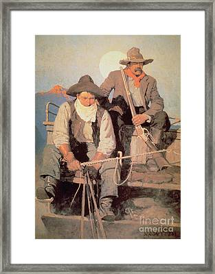 The Pay Stage Framed Print by Newell Convers Wyeth