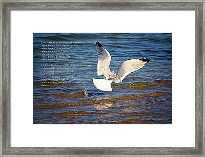 The Peace Prayer Of St. Francis Framed Print