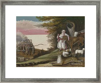 The Peaceable Kingdom, 1829-30 Framed Print