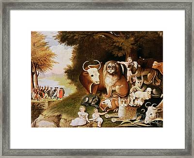 The Peaceable Kingdom Framed Print