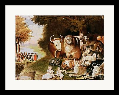 The Peaceable Kingdom Framed Prints