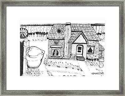 The Peaceful Cottage Framed Print