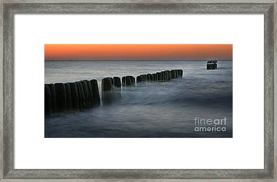 The Peaceful Sea Framed Print by Angel Ciesniarska