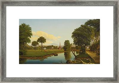 The Peaceful Valley  Framed Print by Levi Wells Prentice